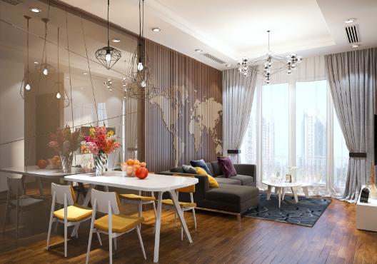 Phối cảnh căn hộ mẫu The Arcadia – Vinhomes Gardenia