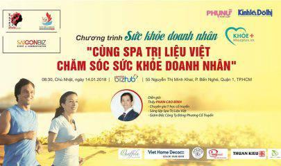 """Mời tham dự sự kiện Khoẻ+ """"Cùng Spa Trị Liệu Việt chăm sóc sức khỏe Doanh nhân"""""""