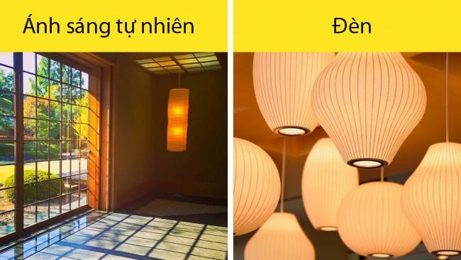 Nhiều ánh sáng mặt trời. Một đặc điểm củangôi nhà Nhật là nhiều ánh sáng lờ mờ xuyên qua những bức tường. Tường được làm từ vật liệu bán trong suốt làm tiêu tan ánh sáng qua khung ván mỏng. Những chiếc đèn làm từ tre hoặc giấy gạo cũng tạo ra hiệu ứng tương tự.