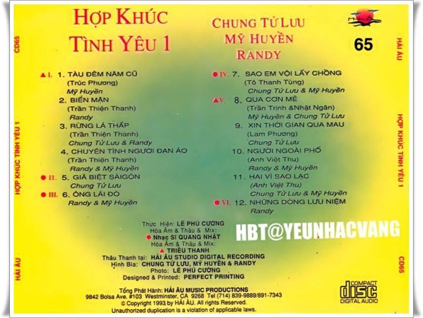 Chung Tu Luu 2018 Hop khuc tinh yeu 1 1