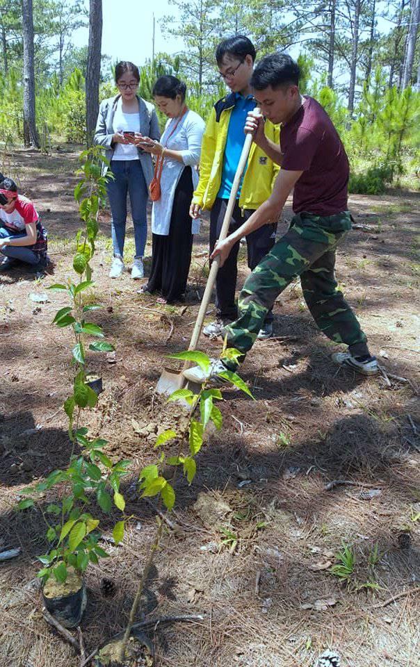Hội quán Các bà mẹ Tp.HCM phối hợp với Trung tâm Nghiên cứu  Quốc tế Rừng nhiệt đới trồng cây xanh