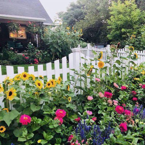 Cuộc sống vô cùng yên bình của cặp vợ chồng cùng 4 con trai bên khu vườn đầy hoa và rau - Ảnh 19.