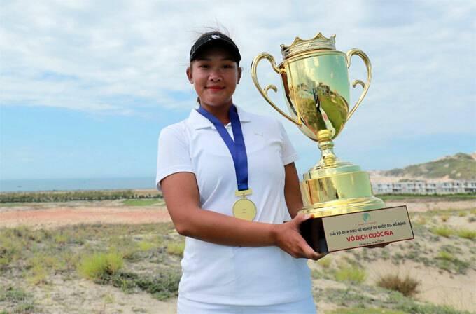 Nguyễn Thảo My lần thứ ba vô địch giải nữ quốc gia. Ảnh: Duy Dương.