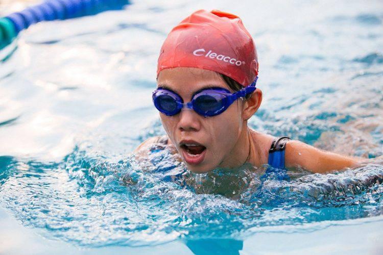 Kim Hoàng không chỉ làm kinh doanh, chị còn là vận động viên bơi lội của thể thao TP.HCM.