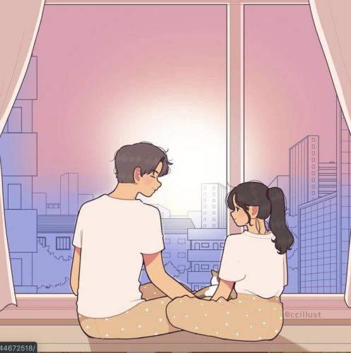 Đôi khi, cả hai chỉ cần ngồi lặng yên bên nhau, không ai nói gì, cũng không cần phải nói. Bởi sự im lặng này cũng là khoảnh khắc đáng nhớ.