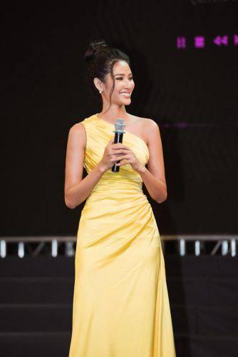 Á hậu Hoàng Thùy đẹp cuốn hút với làn da nâu nóng bỏng, nụ cười rạng rỡ chuẩn Miss Universe ảnh 1
