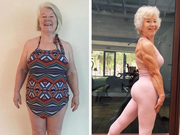 Sốc rớt hàm với cụ bà 73 tuổi tập gym giảm 20 kg trong sáu tháng ảnh 3