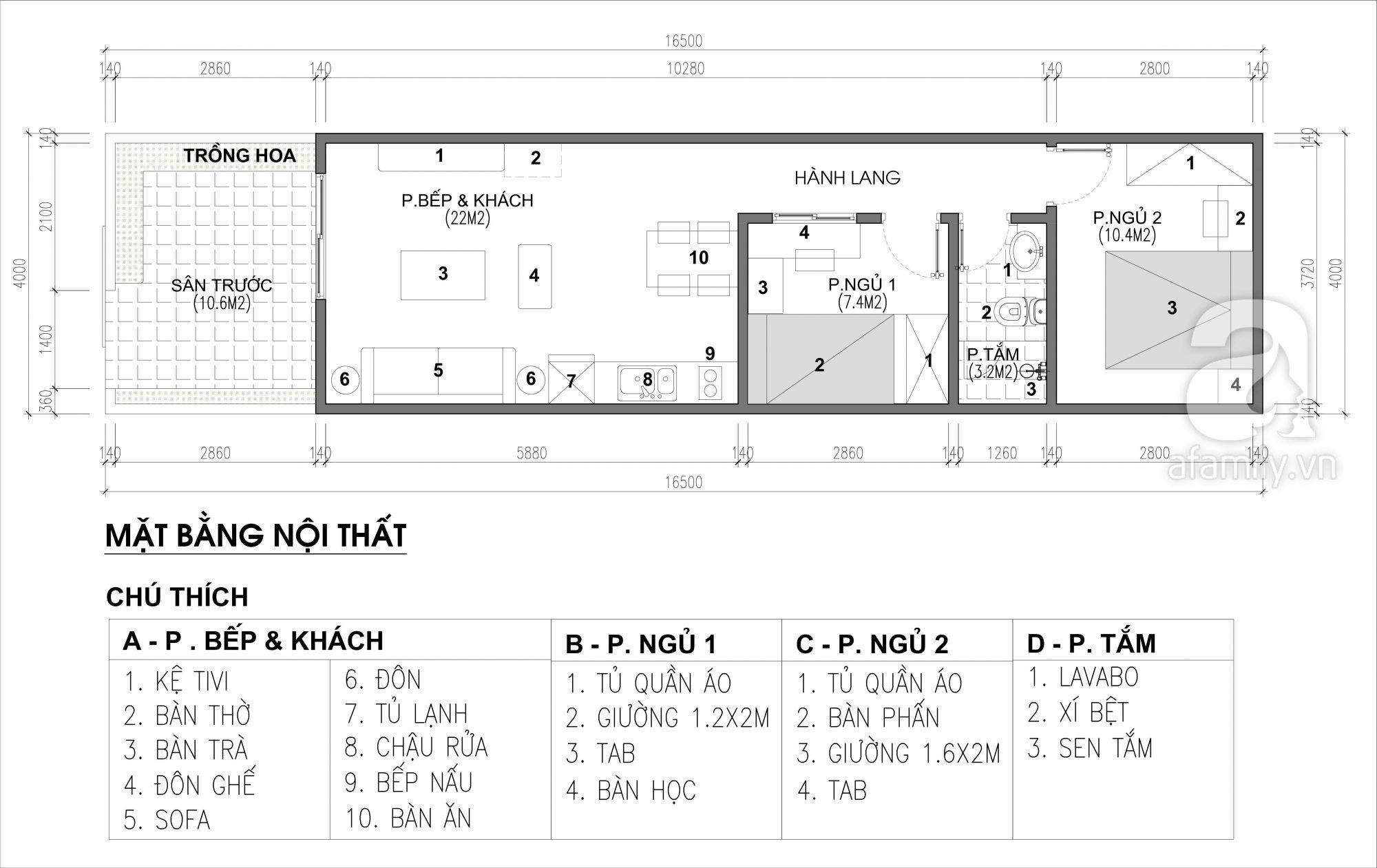 Tư vấn thiết kế nội thất nhà ở cấp 4 nhỏ xinh theo phong cách hiện đại tối giản và với chi phí tiết kiệm chỉ 50 triệu - Ảnh 2.