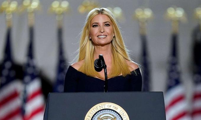 Ivanka Trump, con gái Tổng thống Donald Trump, tại Đại hội toàn quốc đảng Cộng hòa ở Nhà Trắng hôm 27/8.
