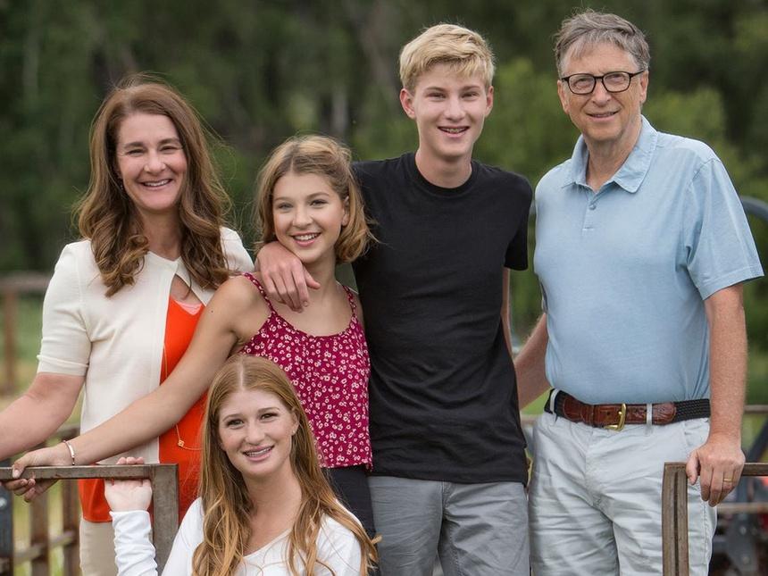 Gia đình tỷ phú Bill Gates.
